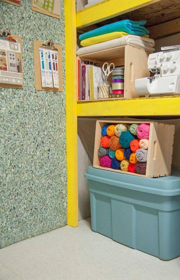 Suelo del azulejo como revestimiento de paredes - 49 Brilliant Consejos Organización del garaje, ideas y proyectos de bricolaje