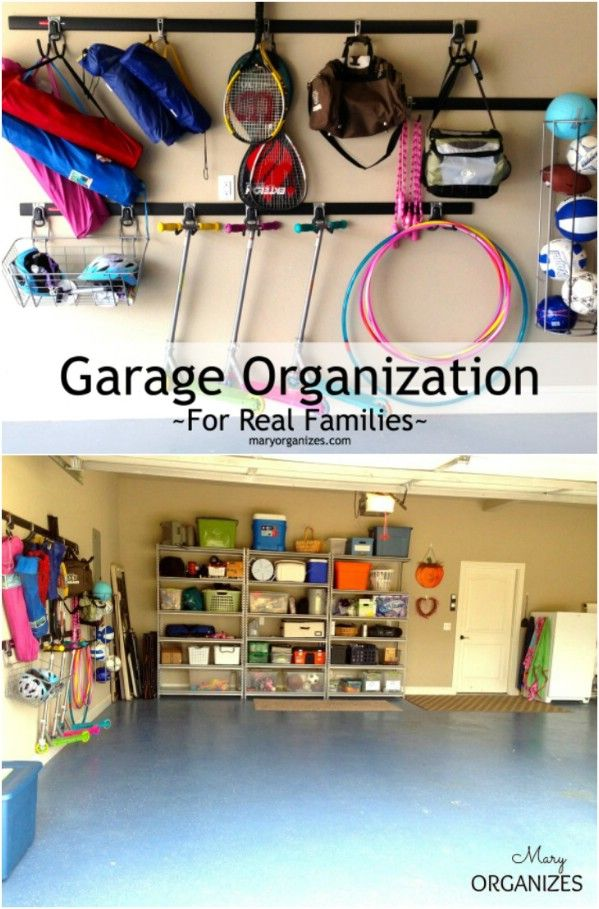 Organización del garaje para Familias Reales - 49 Brilliant Garaje Organización Consejos, ideas y proyectos de bricolaje