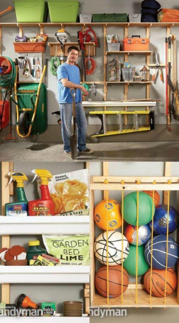 Utilizar el espacio de pared para almacenamiento - 49 Brilliant Garaje Organización Consejos, ideas y proyectos de bricolaje