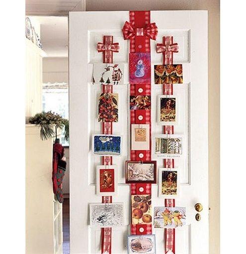 Pantalla Tarjeta de Navidad - Cintas de puerta