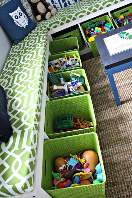Almacenamiento / sala de estar - 5 fácil almacenamiento y organización Soluciones para el dormitorio de cualquier niño