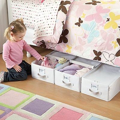 Totes lona para Under the Almacenamiento cama - 5 fácil almacenamiento y organización Soluciones para el dormitorio de cualquier niño