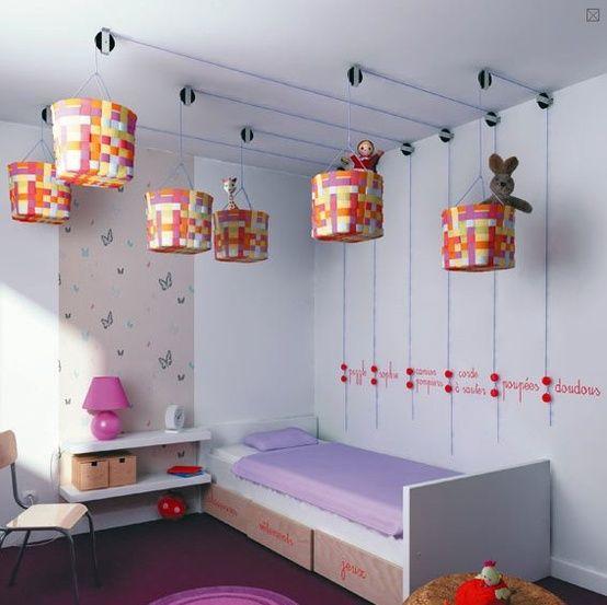 Techo Almacenamiento - 5 fácil almacenamiento y organización Soluciones para el dormitorio de cualquier niño