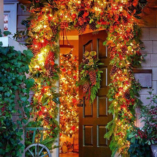 Jardín Inspirado - 60 maravillosamente festivas maneras de decorar su porche para Navidad