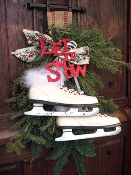 Ir rústico - 60 bellamente festivas maneras de decorar su porche para Navidad