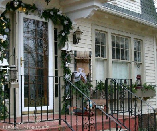Navidad del país - 60 maravillosamente festivas maneras de decorar su porche para Navidad