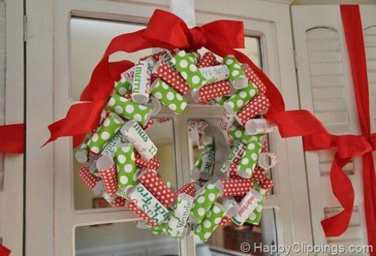 Hacer una corona - 60 maravillosamente festivas maneras de decorar su porche para Navidad