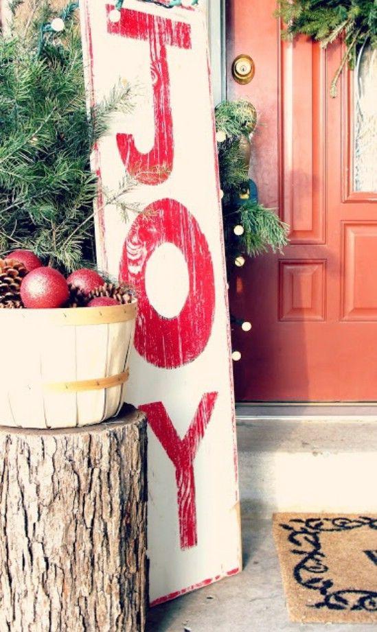 Haga sus propios signos - 60 maravillosamente festivas maneras de decorar su porche para Navidad