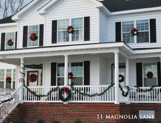 Decora Pasos - 60 maravillosamente festivas maneras de decorar su porche para Navidad