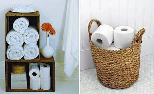 DIY Baño Almacenamiento - Papel Higiénico