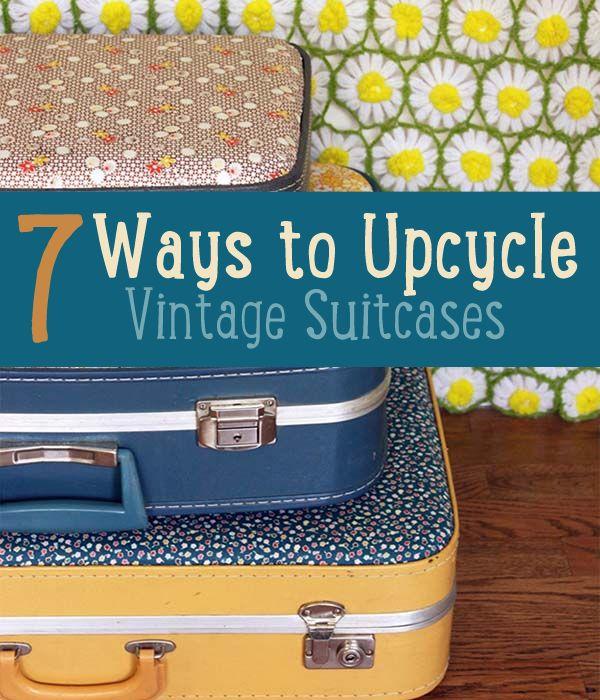 Fotografía - 7 maneras de bricolaje a upcycle Maletas del vintage