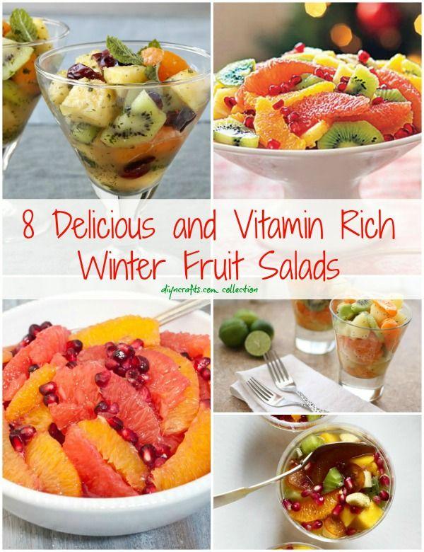 8 ensaladas deliciosas y Vitamina Rich invierno Frutas