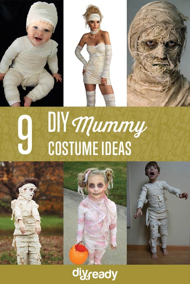 Echa un vistazo a 9 Ideas DIY traje de momia en http://artesaniasdebricolaje.ru/9-diy-mummy-costume-ideas/
