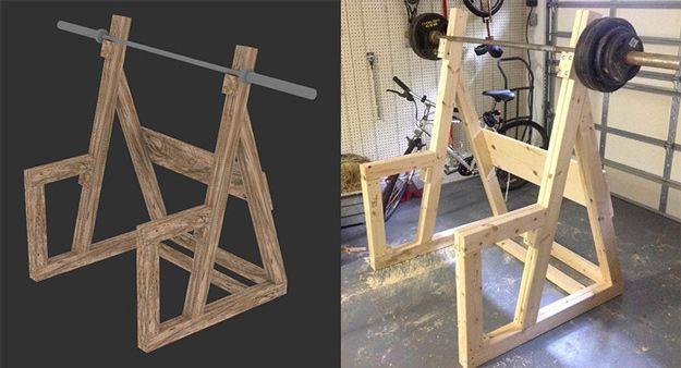 Echa un vistazo a 9 de bricolaje Ideas jaula de sentadillas en http://artesaniasdebricolaje.ru/diy-squat-rack-ideas/