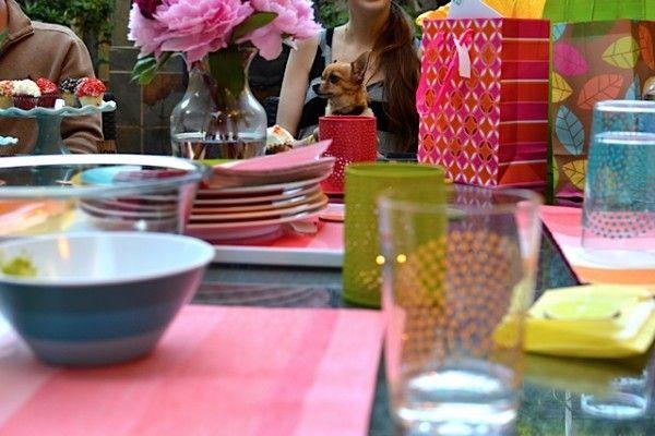 Colorida fiesta de cumpleaños de la raya