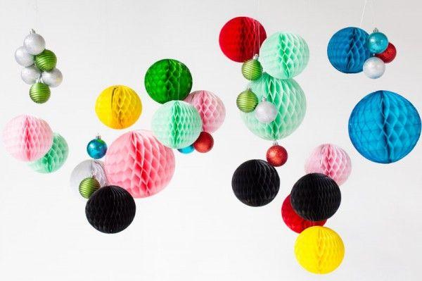DIY Honeycomb Ornamento Chandeliers4