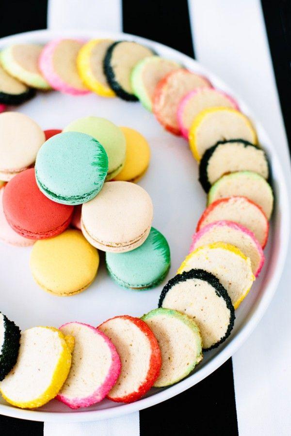 Colorido Azúcar bordeados cookies