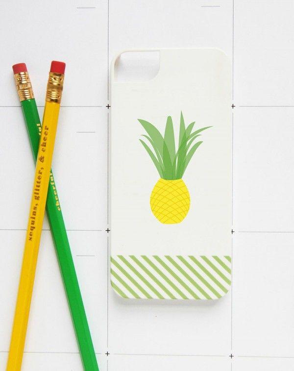 Piña caso del iPhone - Estudio DIY + Lápiz Virutas Estudio