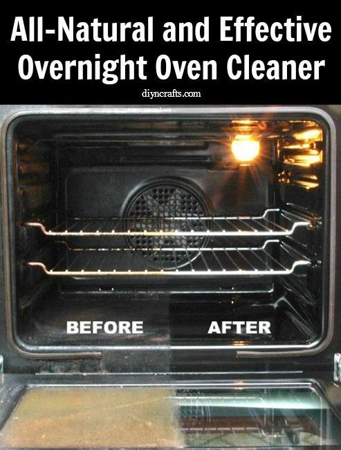 Totalmente natural y efectivo limpiador de hornos Noche