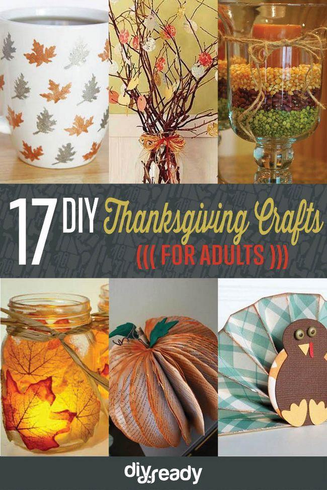 17 de bricolaje de Acción de Gracias Manualidades para adultos, ver más a http://artesaniasdebricolaje.ru/amazingly-falltastic-thanksgiving-crafts-for-adults