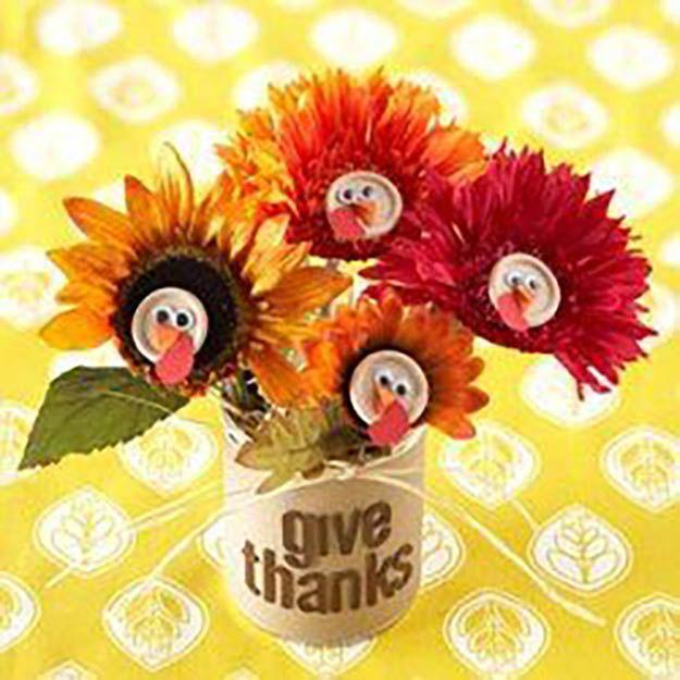 Turquía ramo de la flor   17 de bricolaje de Acción de Gracias Manualidades para adultos, ver más a http://artesaniasdebricolaje.ru/amazingly-falltastic-thanksgiving-crafts-for-adults