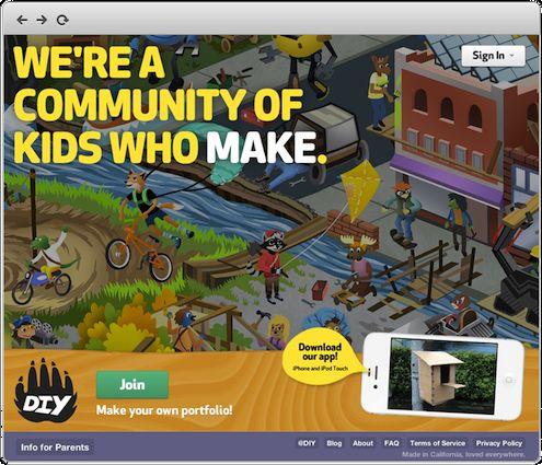 Aplicación de bricolaje para niños