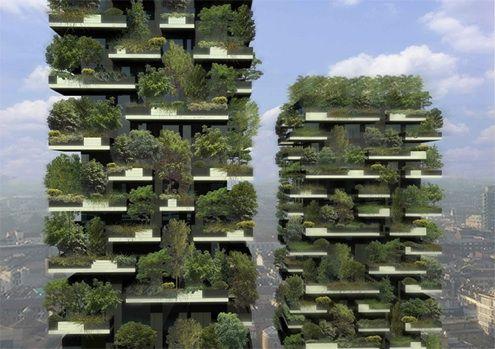 Fotografía - Bosque Vertical del arquitecto Stefano Boeri en Milán