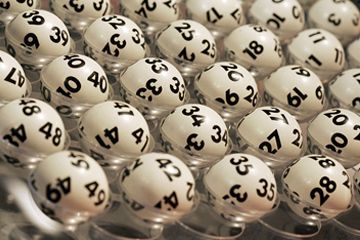 Bolas de la lotería numeradas