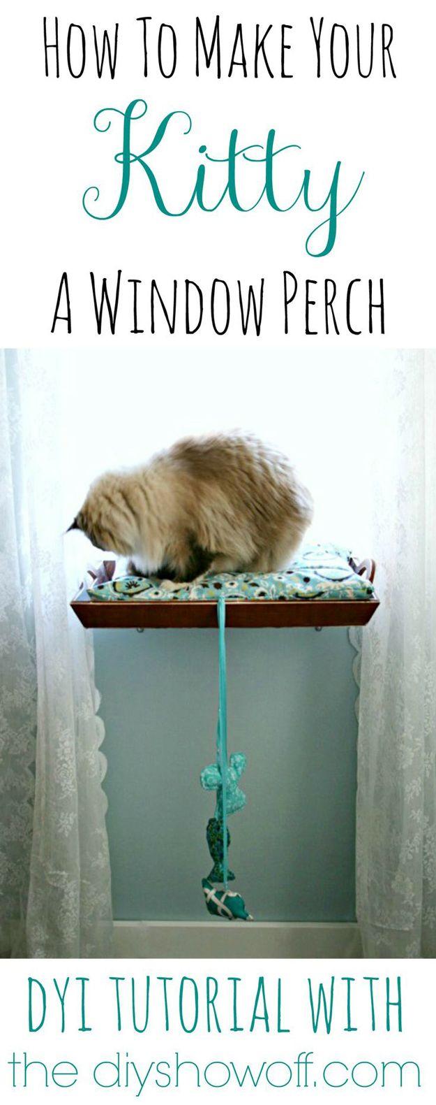 Pet proyecto de bricolaje Tutoriales | http://artesaniasdebricolaje.ru/best-diy-pet-projects-to-keep-your-furry-friends-happy/