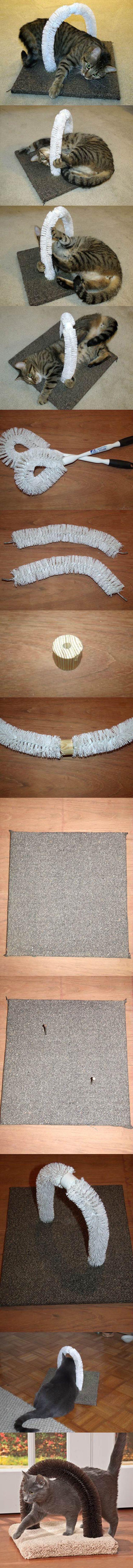 DIY fácil Proyecto para gatos | http://artesaniasdebricolaje.ru/best-diy-pet-projects-to-keep-your-furry-friends-happy/