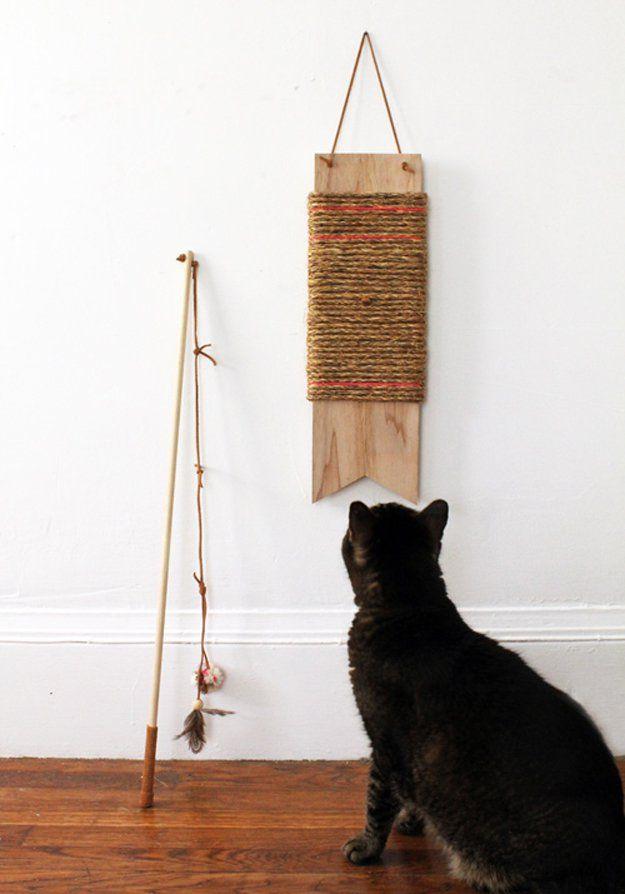 Diversión Proyecto Pet Decoración | http://artesaniasdebricolaje.ru/best-diy-pet-projects-to-keep-your-furry-friends-happy/