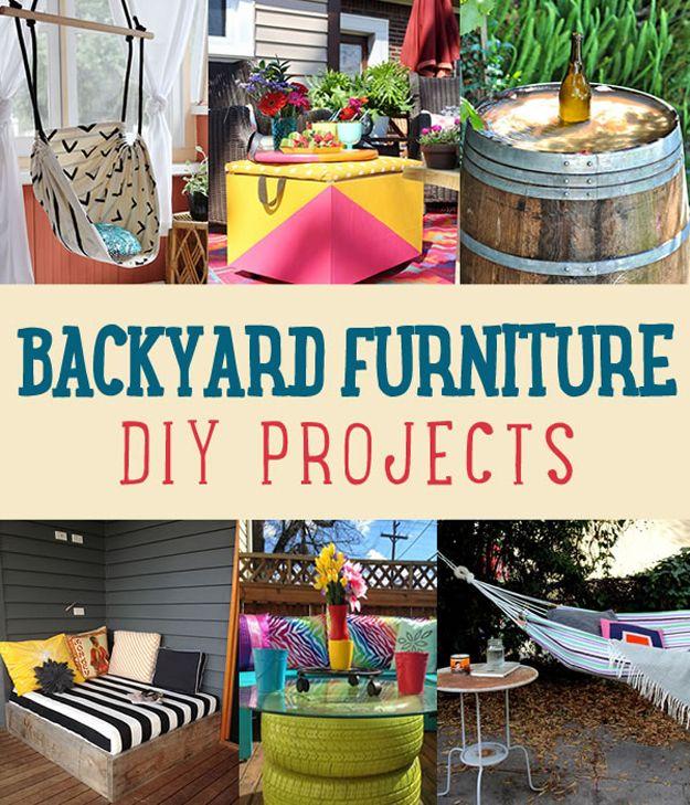 Patio trasero de muebles de bricolaje Proyectos | http://artesaniasdebricolaje.ru/diy-projects-backyard-furniture/