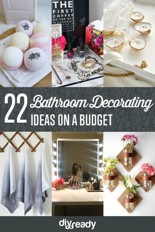 22 Baño Ideas de decoración en un presupuesto | http://artesaniasdebricolaje.ru/bathroom-decorating-ideas-on-a-budget/
