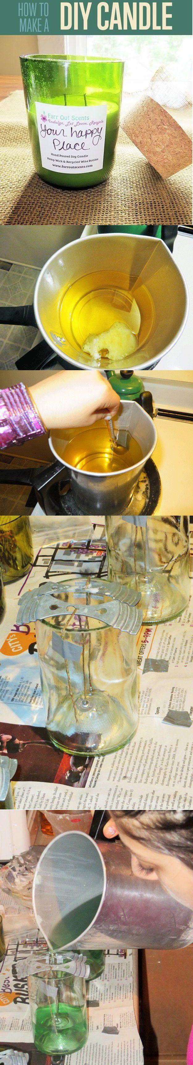 Velas DIY para la decoración del cuarto de baño | http://artesaniasdebricolaje.ru/bathroom-decorating-ideas-on-a-budget/