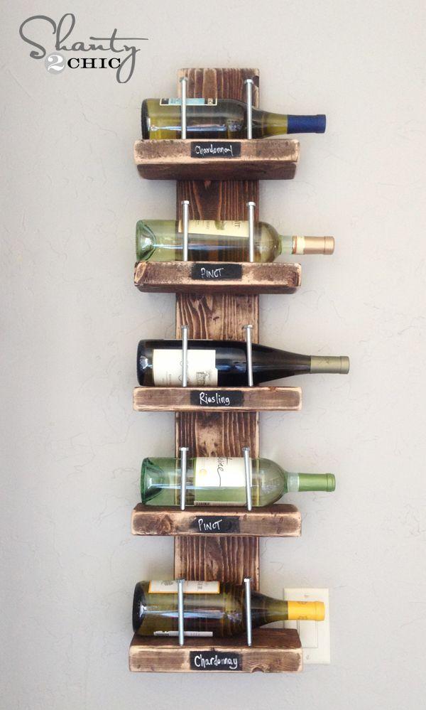 Hermosa inspiración Decoración - Botellero DIY