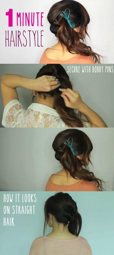 Hermoso Peinado para cualquier ocasión que usted puede hacer en tan sólo 1 minuto
