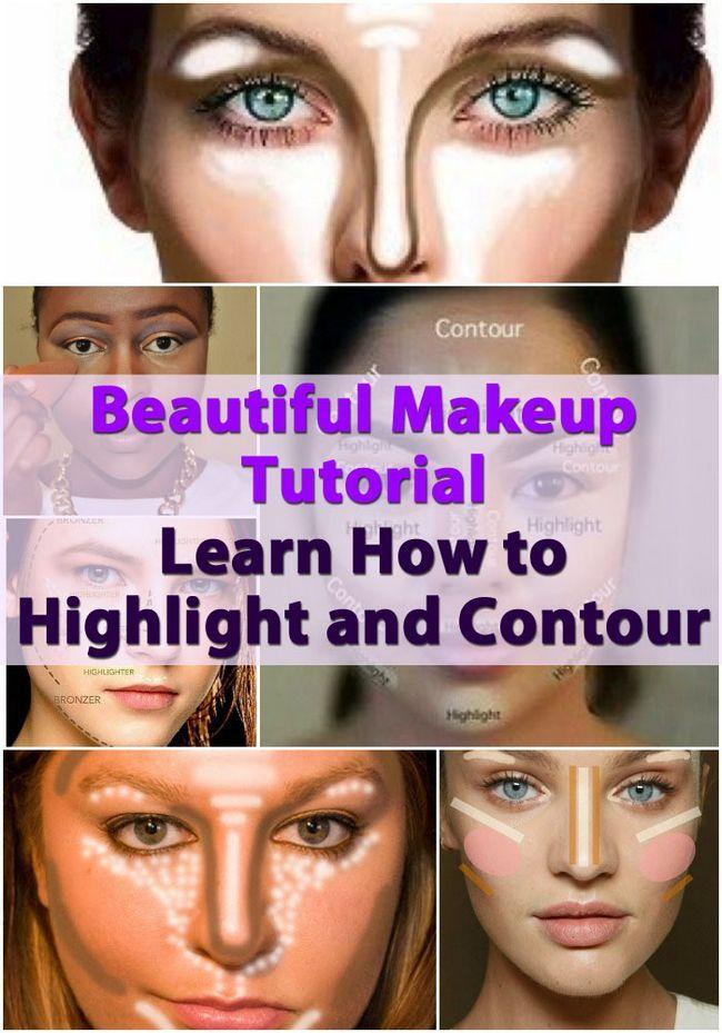 Tutorial de maquillaje Hermosa - Aprende a resaltar y Contour