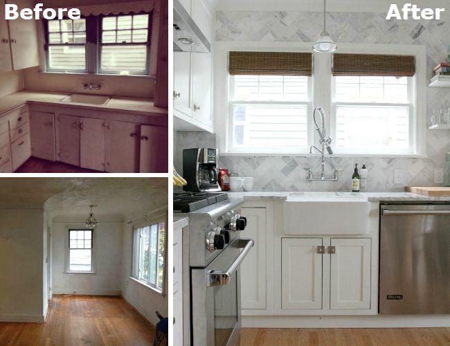 Fotografía - Antes y Después: Un cambio de imagen masiva para una cocina minúscula
