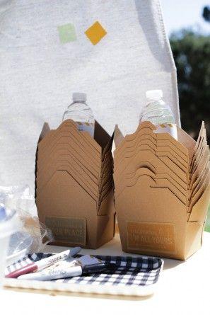 Kraft Papel Cajas Comida para llevar