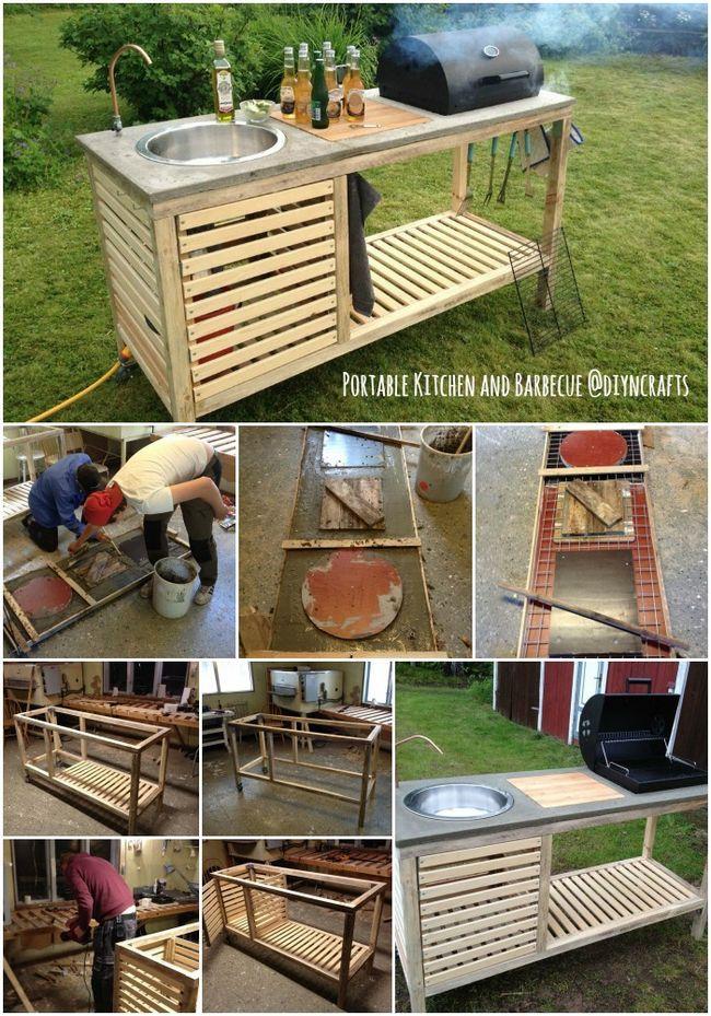 Proyecto al aire libre brillante: Construya su propio All-in-One portátil cocina y barbacoa ...