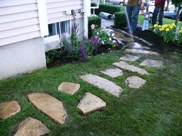 Fotografía - La construcción de un camino de piedra