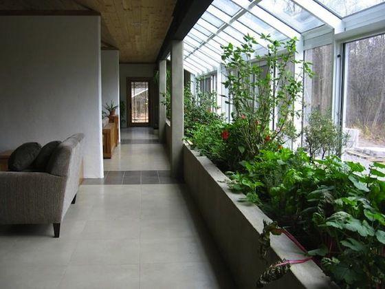 Fotografía - La construcción de una terraza acristalada Planter