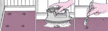 Alfombras Limpieza implica tareas como el aumento de las fibras deprimidas.