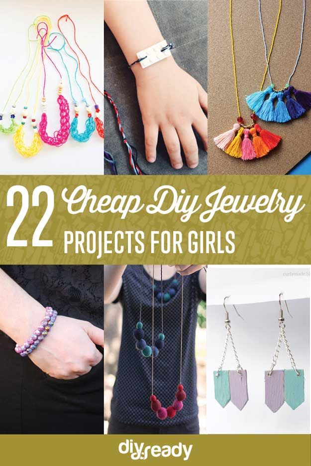 22 Hoteles Proyectos joyería DIY para Chicas | http://artesaniasdebricolaje.ru/cheap-diy-jewelry-projects-for-girls/