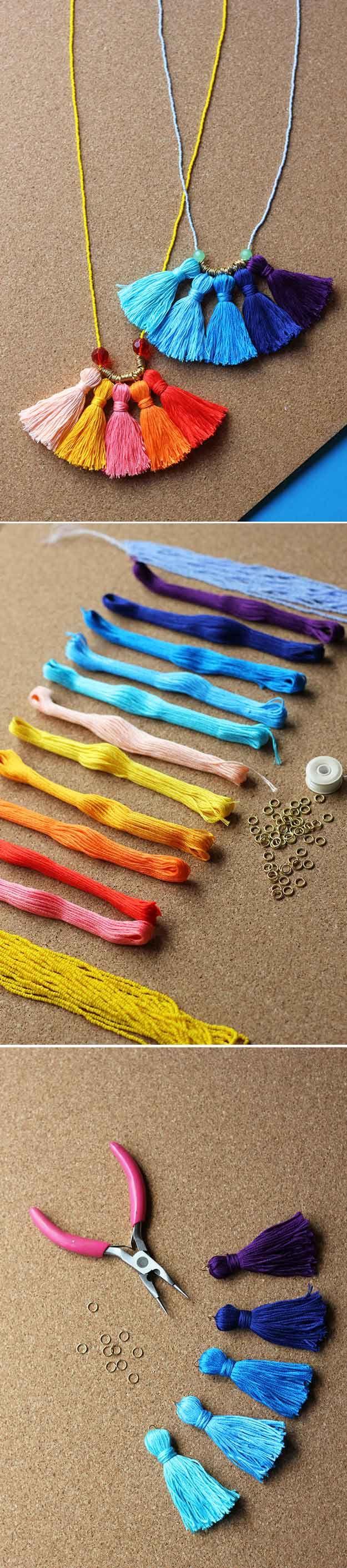 Tutorial de la joyería DIY lindo y fácil a muchachas   http://artesaniasdebricolaje.ru/cheap-diy-jewelry-projects-for-girls/