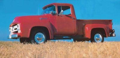 1956 Ford F-100 vista lateral camioneta