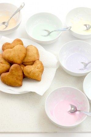 Conversación día de San Valentín del corazón Donuts