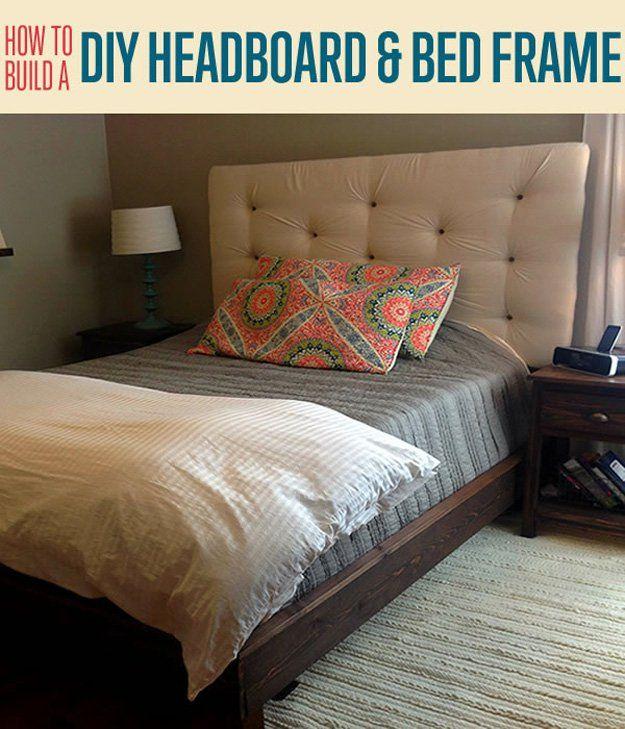 Fotografía - Cómo construir un marco de cabecera tapizada y cama de bricolaje