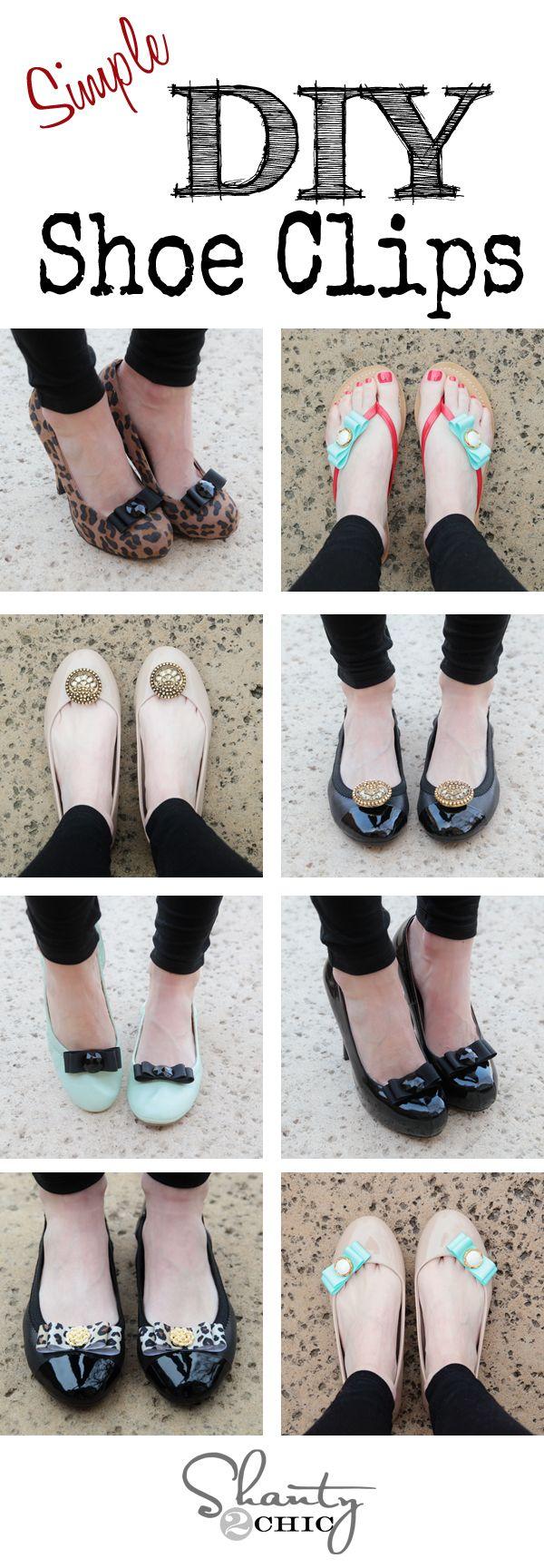 Cree los zapatos perfectos para cualquier ocasión con estos grandes clips de calzado de bricolaje