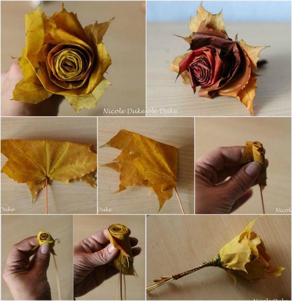 Creativo Maple Leaf DIY Rosas en 6 sencillos pasos